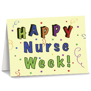 nurses week greeting card confetti